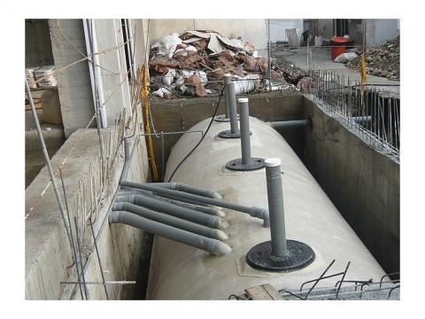 FRP 生活汙水池安裝